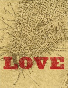 """LOVE"" on South Street Seaport historical print"