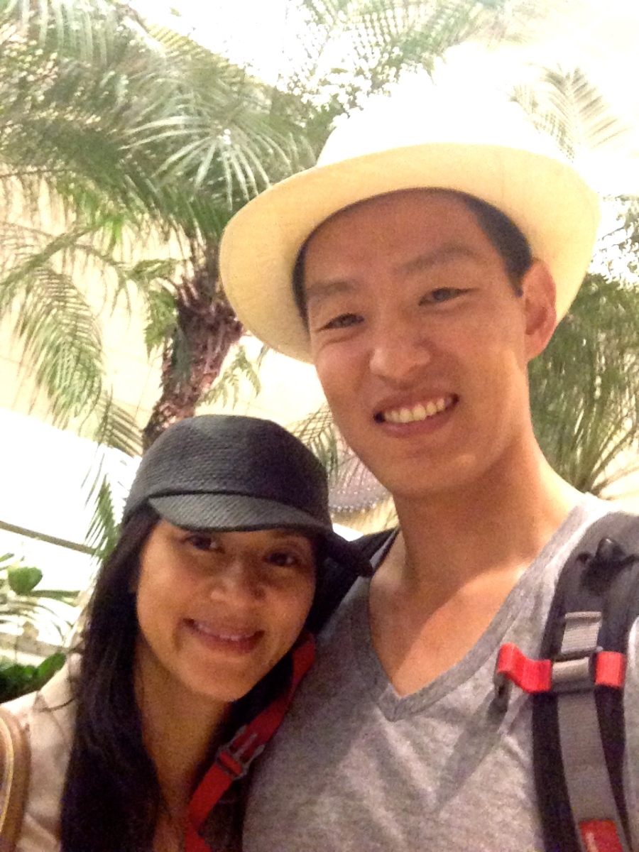Mai and Eric at the Singapore airport