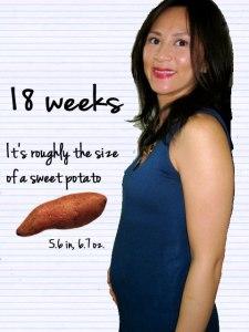 Mai at 18 weeks pregnant