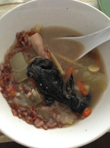 Black chicken soup