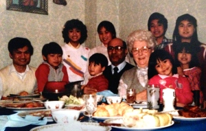Grandma & Grandpa Peters and the Dinh family